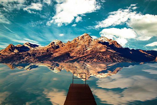 Mountain, Landscape, Sky, Nature, Mood, Clouds, Water