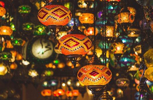 Istanbul, Turkey, Lamps, Light, Culture, Islam, Prayer