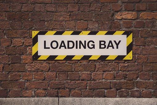 Loading Bay, Sign, Street, Brick Wall, Liverpool
