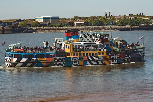 Boat, Tourism, River, Mersey, Merseyside, Liverpool