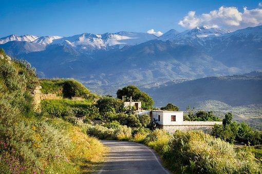 Greece, Aptera, Crete, Landscape, Nature, Panorama