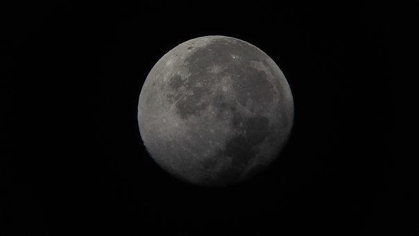 Moon, Night, Space, Planet, Moonlight