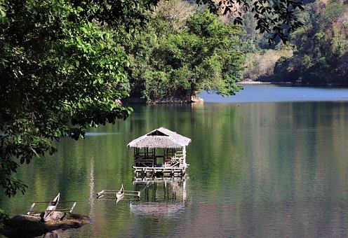 Lake, Landscape, Nature, Mountains, Green, Pokoj
