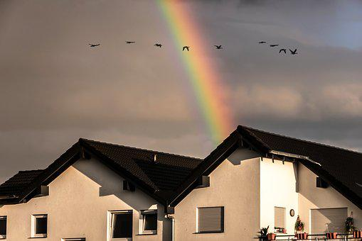 Rainbow, Colorful, Sky, Rainy Weather, Weather