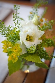 Floral, Rose, White Rose, Noble, Table Decorations