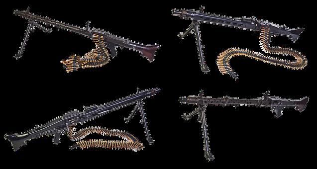 Machine Gun, Mg-34, Mg-42, Firearms, Butt, Disk, Tape
