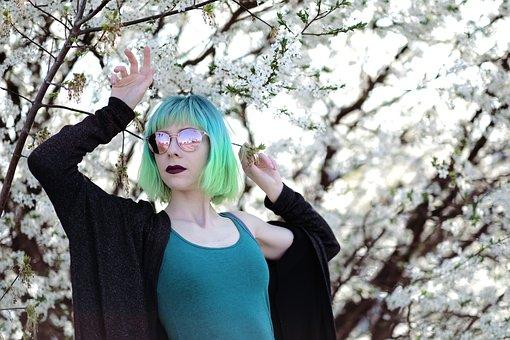 Green Hair, Neon Hair, Teal Hair