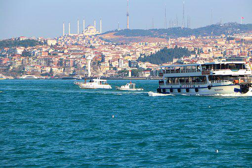 Istanbul, Throat, V, Ship Boat, Jewish, Turkey, Cami