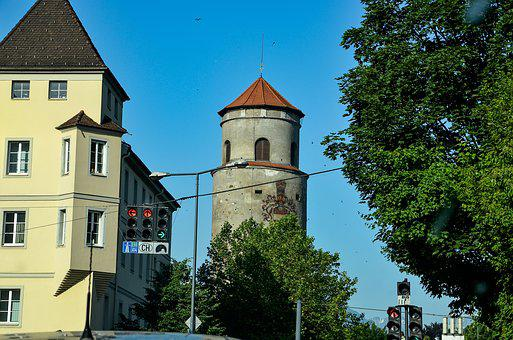 Tower Building, Traffic Lights, Architecture, City