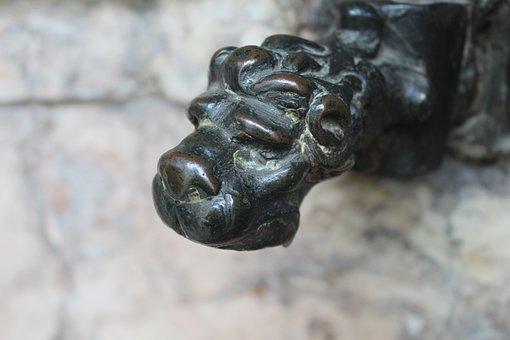 Fountain Head, Fountain, Augsburg, Sculpture
