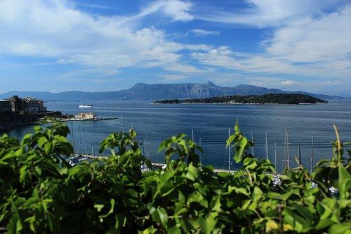 Greece, Corfu, Sea, Island, Water, Beach, Sky, Greek