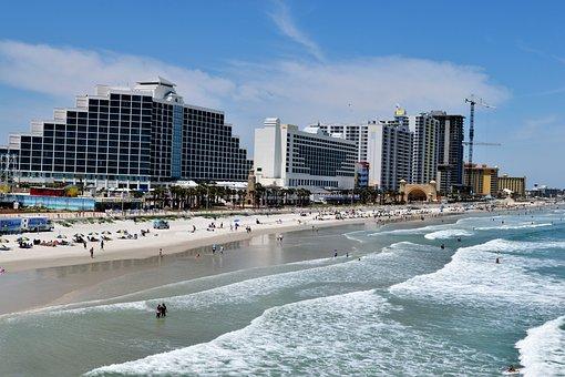 Daytona Beach Florida, Tourism, Travel, Vacation, Beach