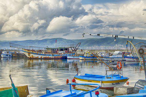 Harbor, Fishing Village, Stormy, Bulgaria, Black Sea