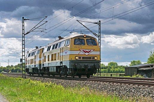 Diesel Locomotive, Couple, Track Construction