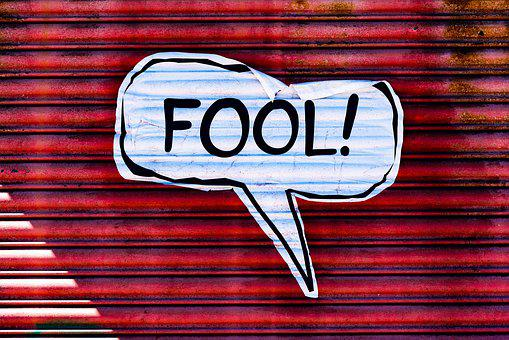 Fool, Sign, Wall, Street Art, Liverpool Street