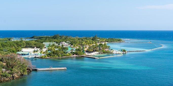 Mahogany Bay, Honduras, Aerial View, Caribbean, Nature