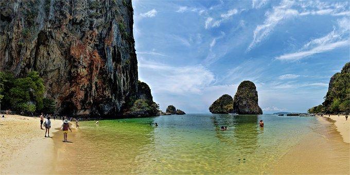 Ao Phra Nang Beach, Thailand, Krabi, Sea, Holidays
