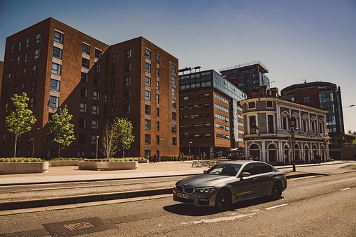 Bmw, Street, Liverpool, Auto, Road, Drive, Architecture