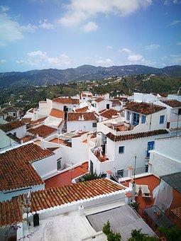 People, Andalusia, Malaga, Street, White, Houses