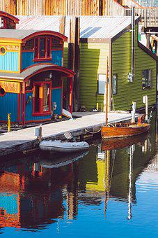 House, Water, Floating, Boat, Marine, Ocean