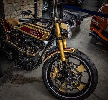 Motorcycle, Leaf Gilding, Retro, Buell, Motor, Design