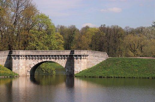 Bridge, Park, Landscape, Nature, The Picturesque, Sky