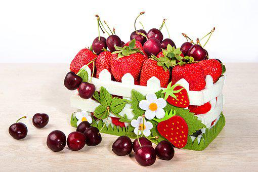 Berry, Cherry, Strawberry, Fruit, Plant, Tasty, Dessert