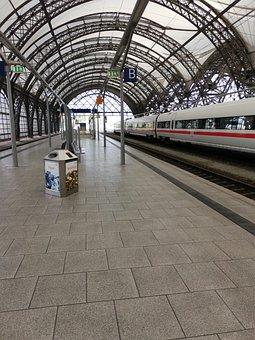 German, Railroad, Train, Rail, Train Station, Dresden