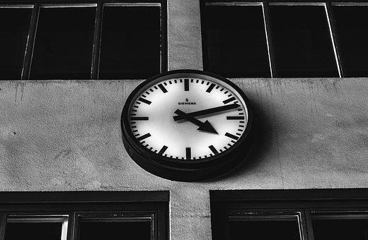 Clock, Analog, Hour Hand, Minute Hand, Time, Retro, Old