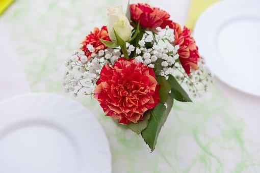 Deco, Flowers, Vase, Decoration, Romantic, Romance