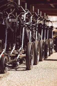 Golf, Golf Course, Trolley, Cart, Storage, Recreation