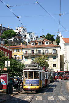 Tram, Street, Portugal, Lisbon