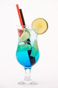 Lime, Glass, Blue, Citrus, Cocktail, Drink, Thirst
