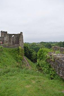 Richmond, Castle, View, England, Outdoor, Meadow, Tudor