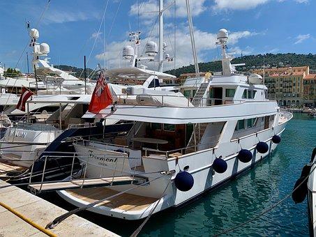 Yacht, Harbour, France, Harbor, Port, Water, Marina