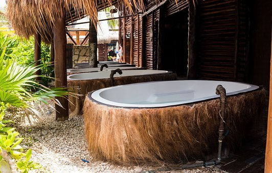 Spa, Coconut, Bath Tub, Treatment, Body, Wellness