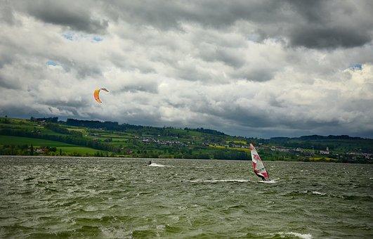 Wind Surfing, Kite Surfing, Water Sports, Sport, Water