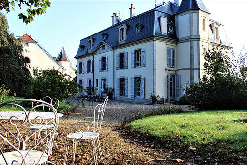 Old House, Wire, White Chair, Garden, Villa