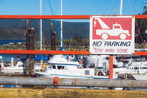 No Parking, Tow Away, Zone, Sign, Symbol, Prohibited