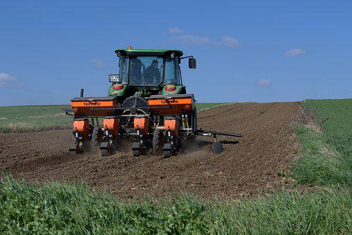 Tractor, Agriculture, Field, Machine, Sow, Harvest