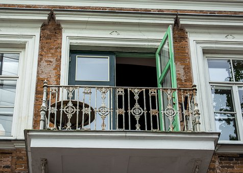 Balcony, House, Architecture, Building, Window
