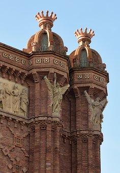 Barcelona, Arc De Triomf, Statue, Historic, Sculpture