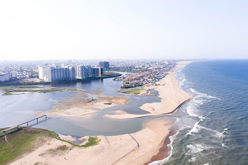 Beach, Beach View, Ocean, Sea, Water, Coast, Blue, Sand