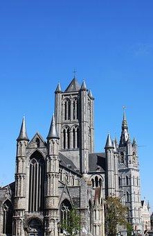 Belgium, Gent, Ghent, Sint-niklaaskerk, Belfry Of Ghent