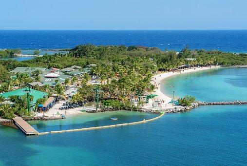 Roatan, Aerial View, Beach, Blue, Tropical, Caribbean