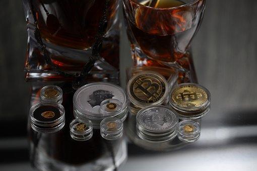 Crypto, Bitcoin, Whiskey, Coins, Gold, Silver
