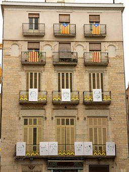 Catalonia, Political, Politics, Wall, Freedom, Flag