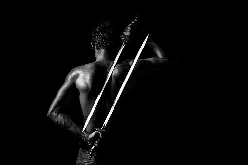 Darkness, Games, Sword, Ninja, Bodybuilder, Work, Gim