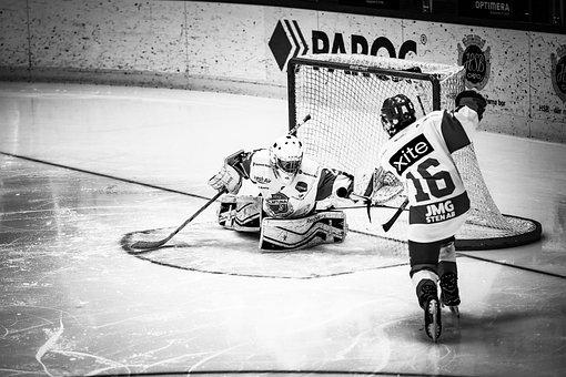 Ice Hockey, Hockey, Ice, Goalkeeper, Shots