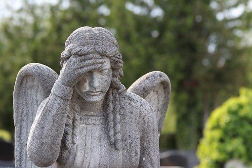 Stone Angel, Wigs, Statue, Sculpture, Mirogoj Cemetery